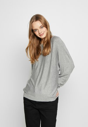 NMOWEN BATWING - Jumper - light grey