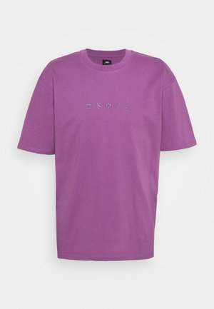 KATAKANA EMBROIDERY - Print T-shirt - CHINESE VIOLET