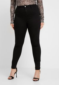 Missguided Plus - LAWLESS HIGHWAISTED SUPERSOFT - Jeans Skinny Fit - black - 0