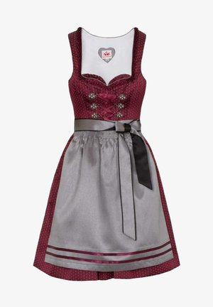 Dirndl - red grey