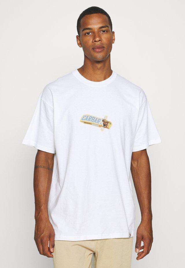 CHOCOLATE BAR - T-shirt print - white