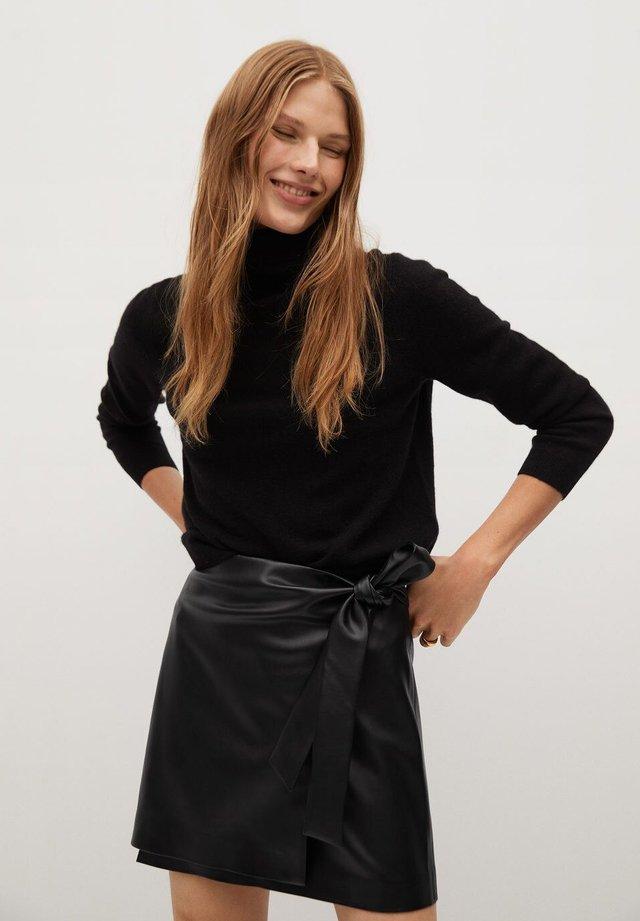 FIRE - A-line skirt - noir
