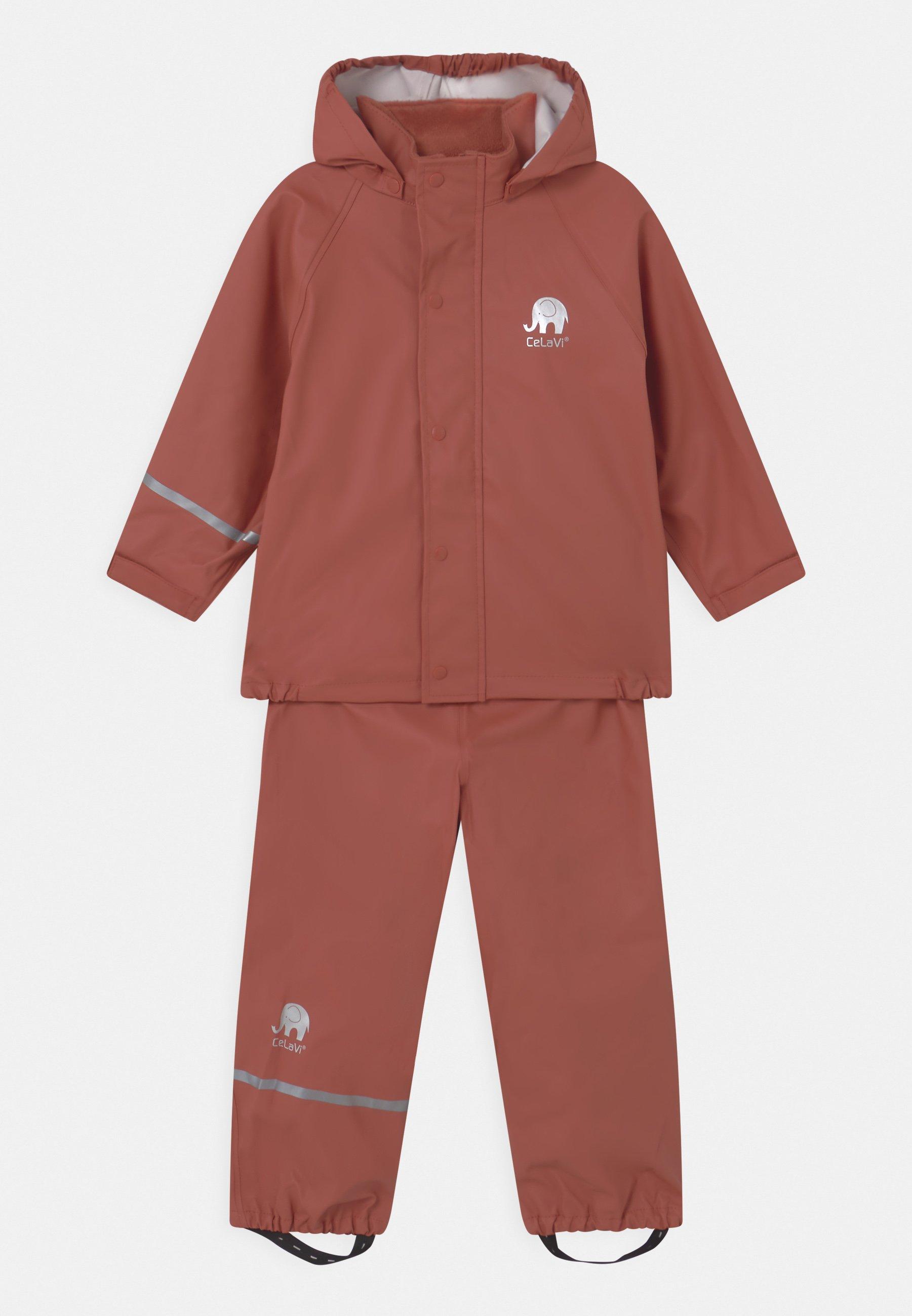 Enfant SET UNISEX - Veste imperméable - redwood