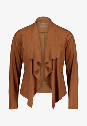 Faux leather jacket - toffee
