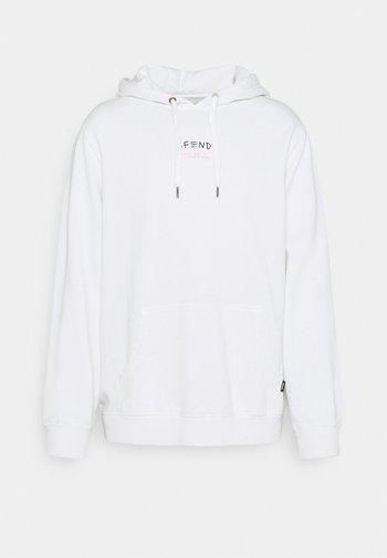 FIGHT PULL ON HOOD UNISEX  - Sweatshirt - blanc