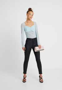 New Look Petite - HALLIE DISCO - Jeans Skinny - black - 1