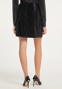myMo at night - Mini skirt - silber schwarz - 2