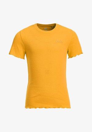 SLIM FIT  - T-shirts basic - ochre yellow