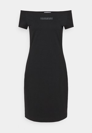 SHINE LOGO BARDOT NECKLINE DRESS - Jersey dress - black