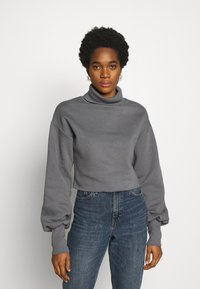 Nly by Nelly - HIGH POLO - Sweatshirt - grey - 0
