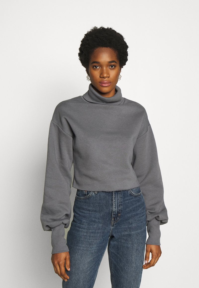 Nly by Nelly - HIGH POLO - Sweatshirt - grey