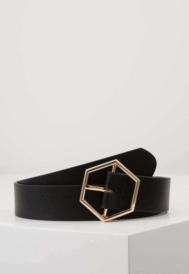 ANDIA BELT - Pásek - black/gold-coloured