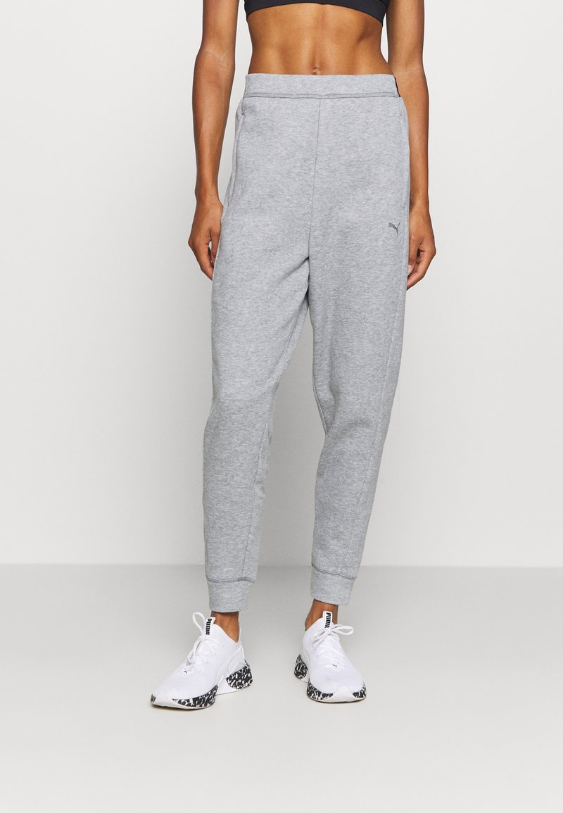 Puma - TRAIN FAVORITE JOGGER - Tracksuit bottoms - medium gray heather