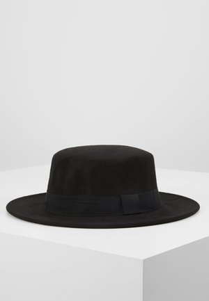 BOATER HAT - Klobouk - black