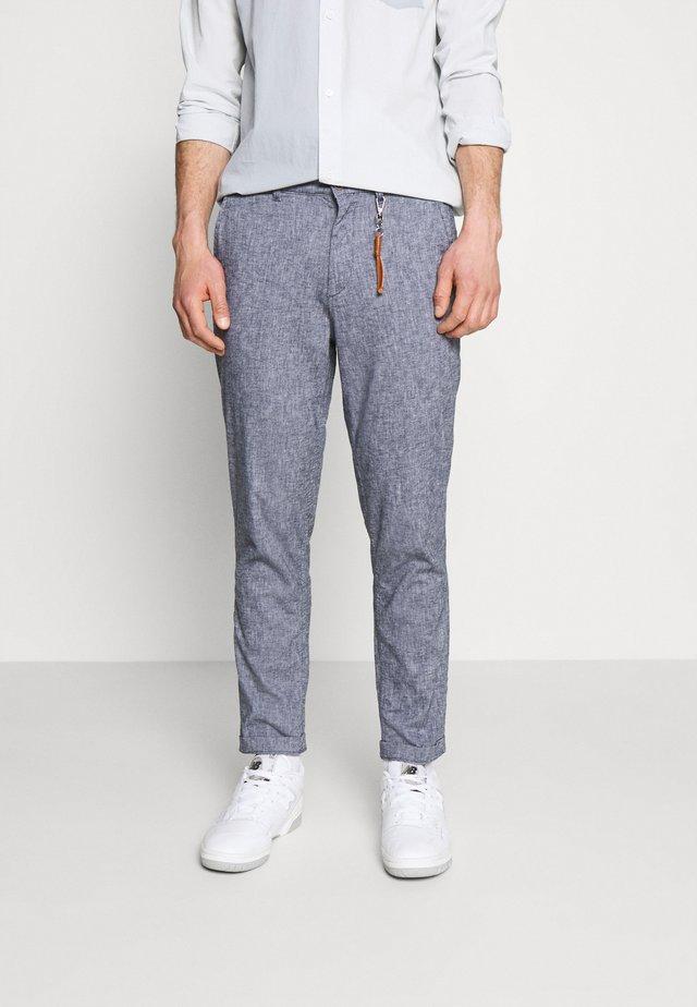 JJIACE JJLINEN - Pantalon classique - navy blazer