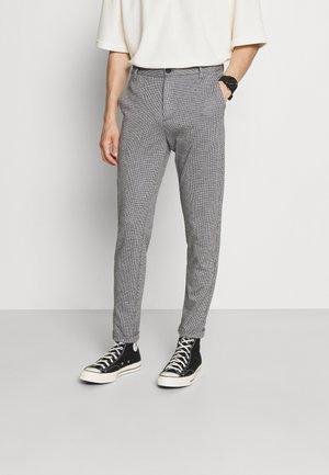 GINGHAM SUPERFLEX PANTS CROP - Kalhoty - light grey