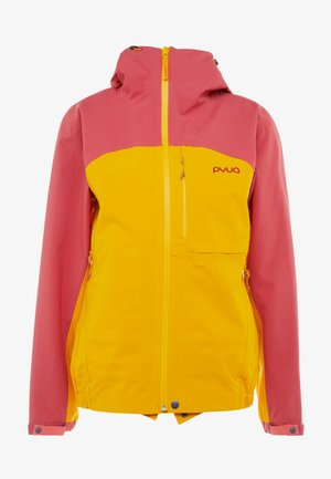 GORGE - Veste de ski - dark rose/pumpkin yellow