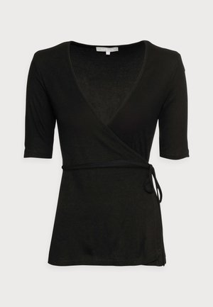 NORMA WRAP - Print T-shirt - black