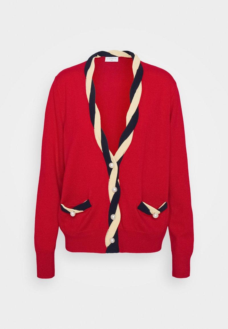 sandro - TRESSY - Cardigan - rouge