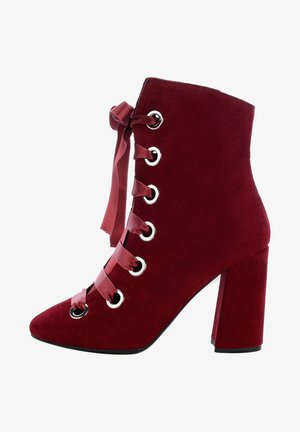 GAGLIOLI - High heeled ankle boots - bordeaux