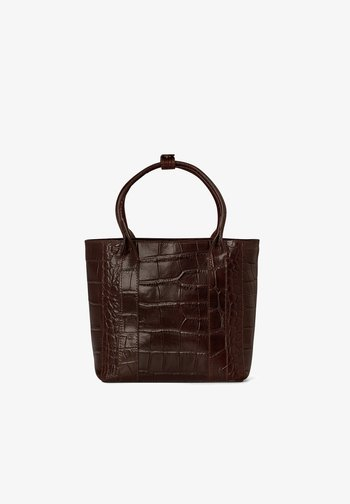 Tote bag - brown croco