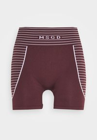 Missguided - SEAMLESS BOOTY - Shorts - burgundy - 4