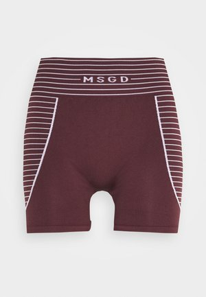 SEAMLESS BOOTY - Shorts - burgundy
