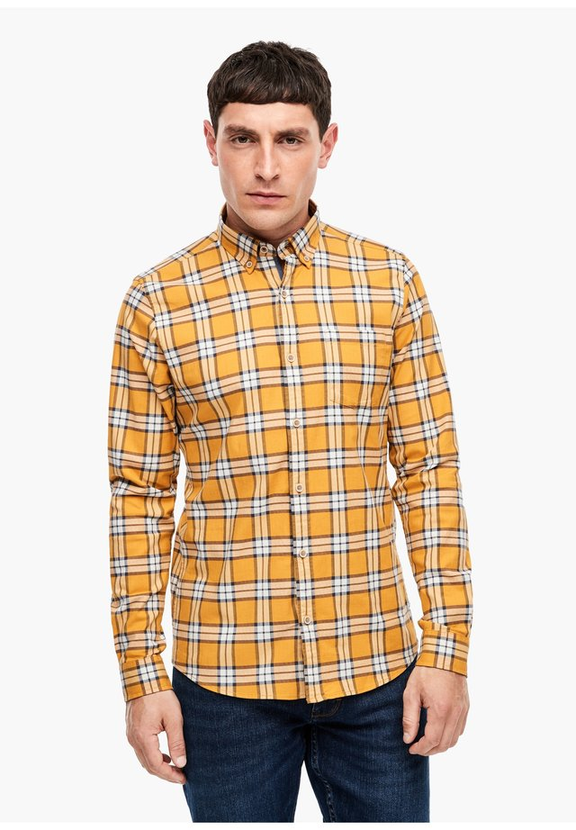 SLIM - Shirt - yellow check
