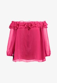 Vince Camuto Plus - RUFFLED OFF SHOULDER YORYU BLOUSE - Blůza - wildhibiscus - 3