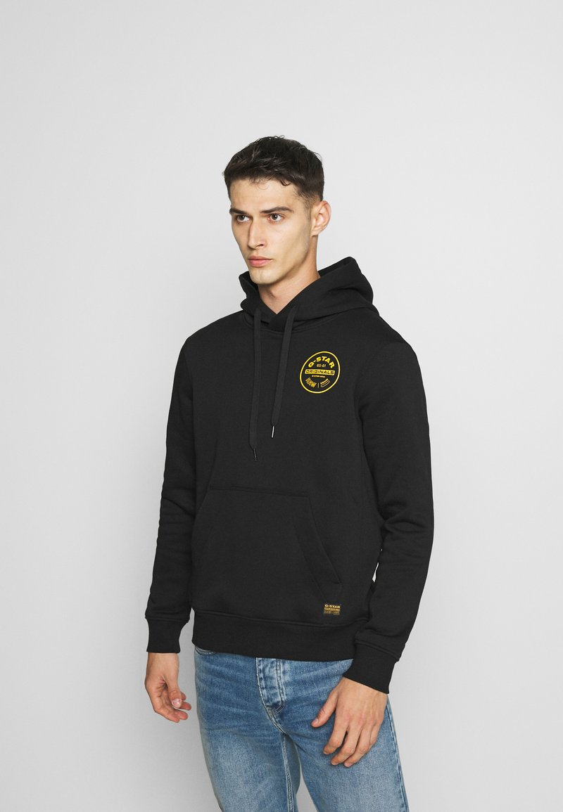 G-Star - ROUND ORIGINALS HOODED LONG SLEEVE - Hoodie - black