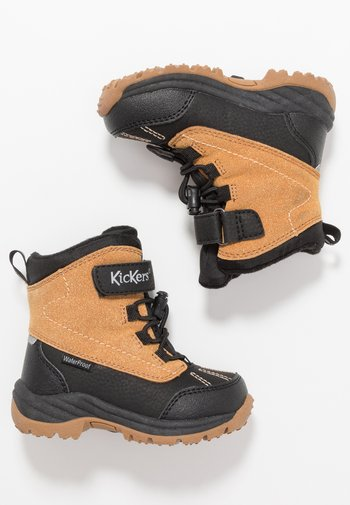 JUMP - Winter boots - black/camel