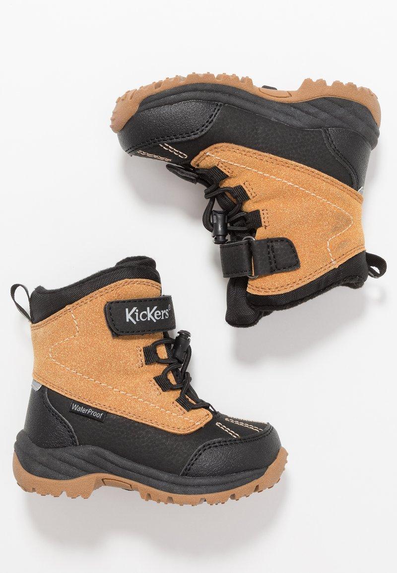 Kickers - JUMP - Winter boots - black/camel