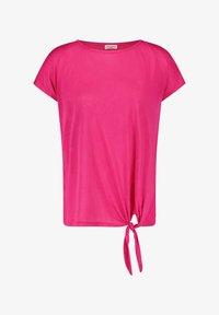 Gerry Weber - MIT KNOTENDDETAIL - Print T-shirt - rasberry - 2