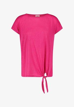 MIT KNOTENDDETAIL - Print T-shirt - rasberry