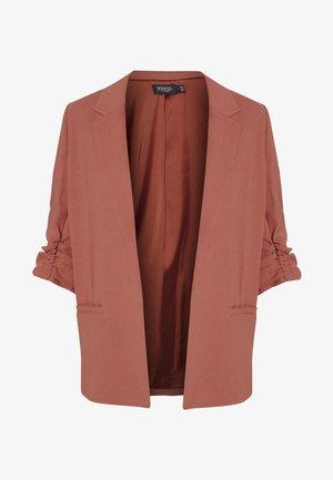 SHIRLEY - Short coat - marsala