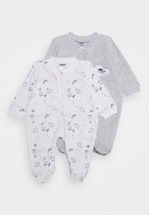 2 PACK - Pyjamas - grey/white