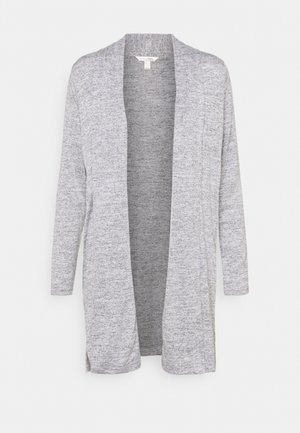 LUXESPUN OPEN CARDIGAN - Gilet - medium heather grey