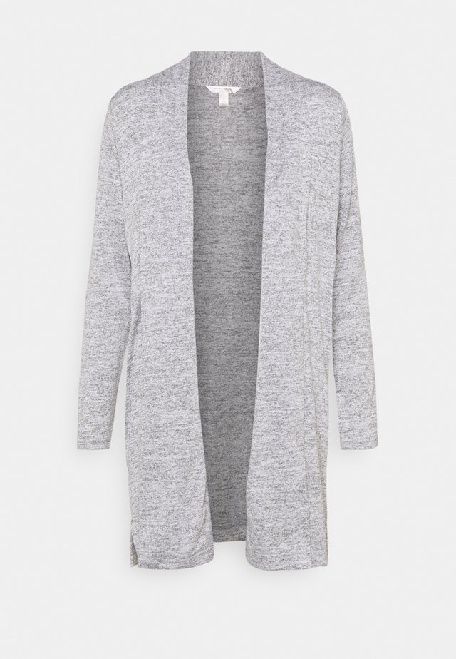 LUXESPUN OPEN CARDIGAN - Kardigan - medium heather grey