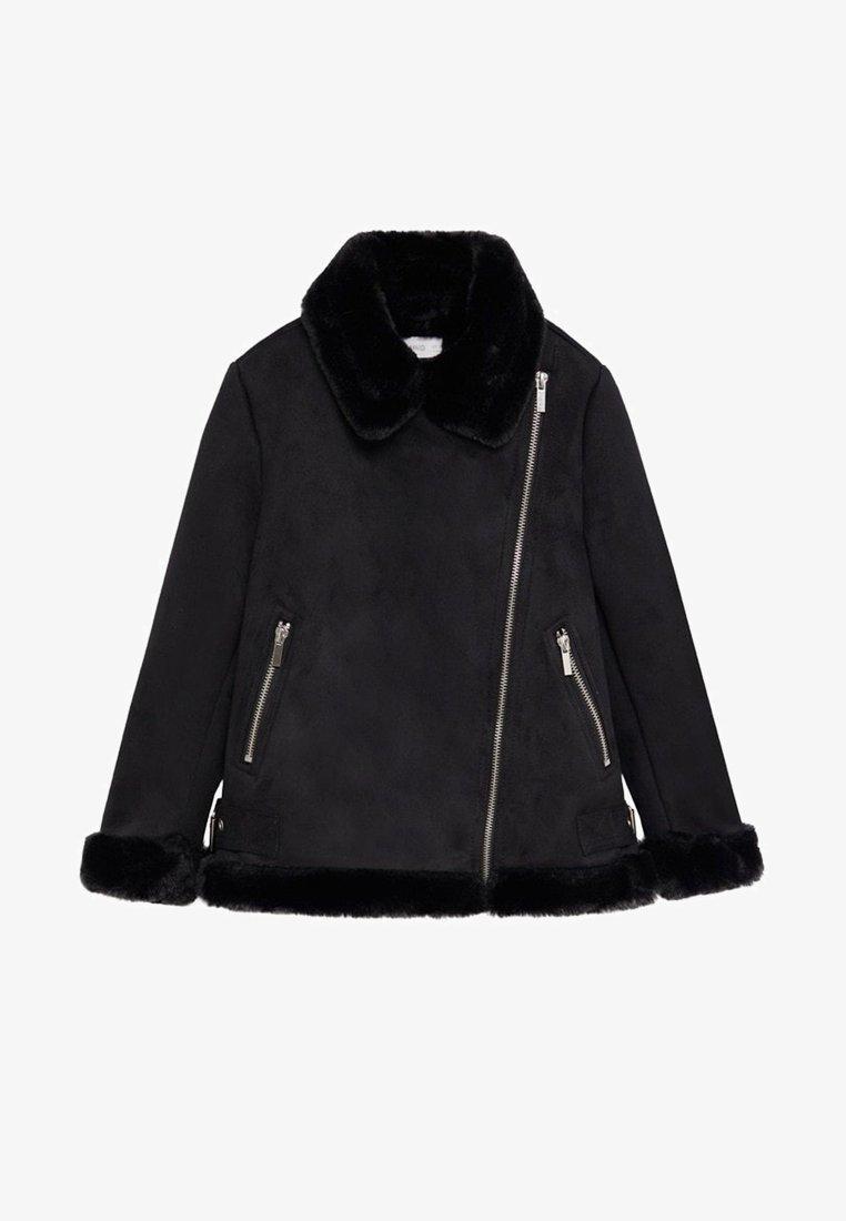 Mango - PINK - Zimní bunda - black