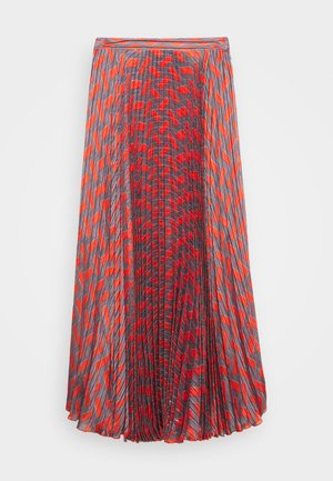 NESSA LONG SKIRT - A-Linien-Rock - grey/orange