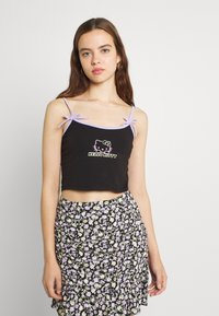 NEW girl ORDER - NEON CAMI - Top - black/lilac - 0