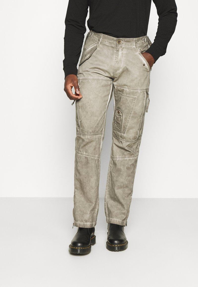 Alpha Industries - FLIGHT PANTS - Trousers - dark olive