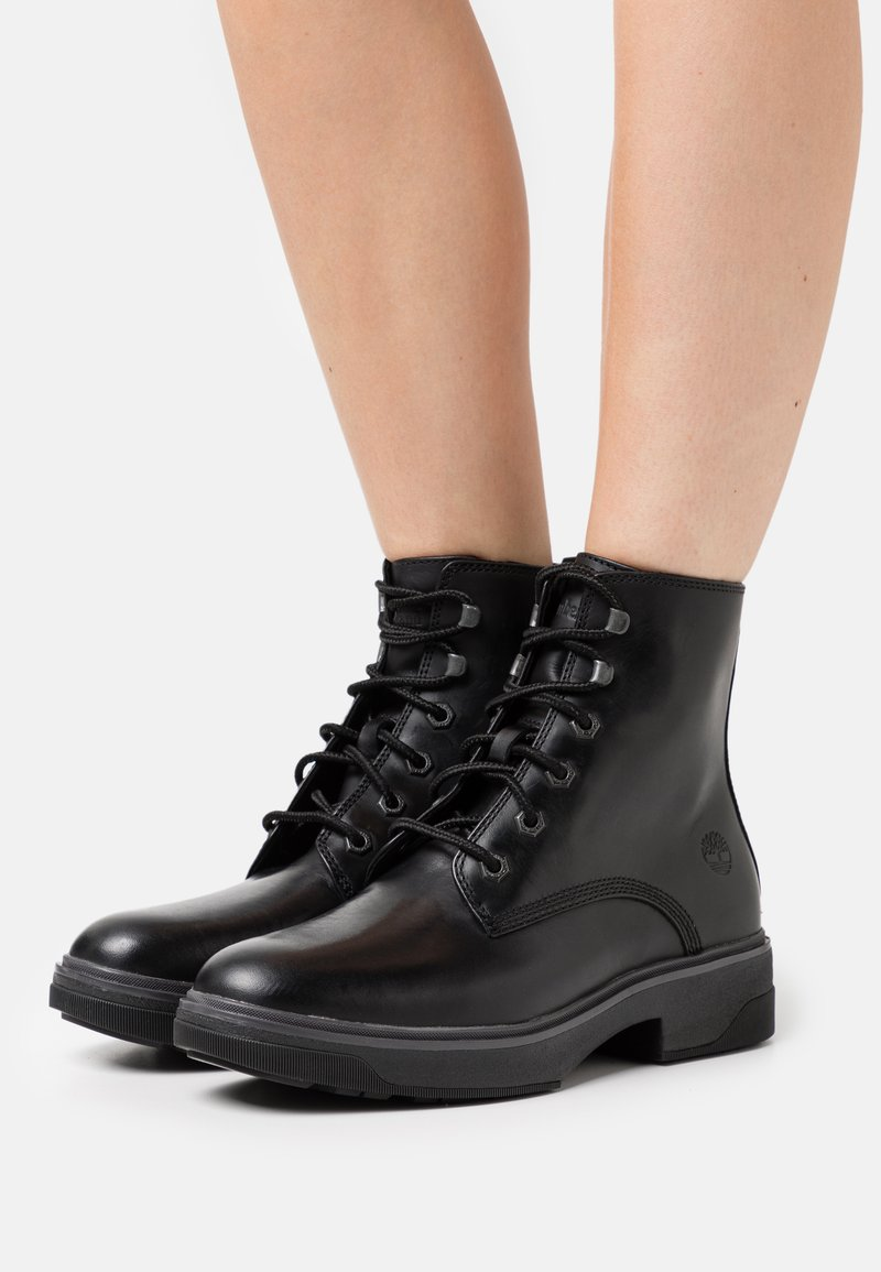 Timberland - NOLITA SKY LACE UP - Platform ankle boots - black