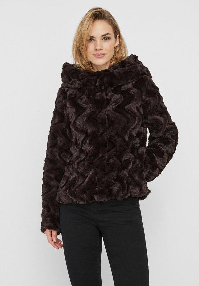 VMCURL HOODY JACKET - Light jacket - chocolate plum