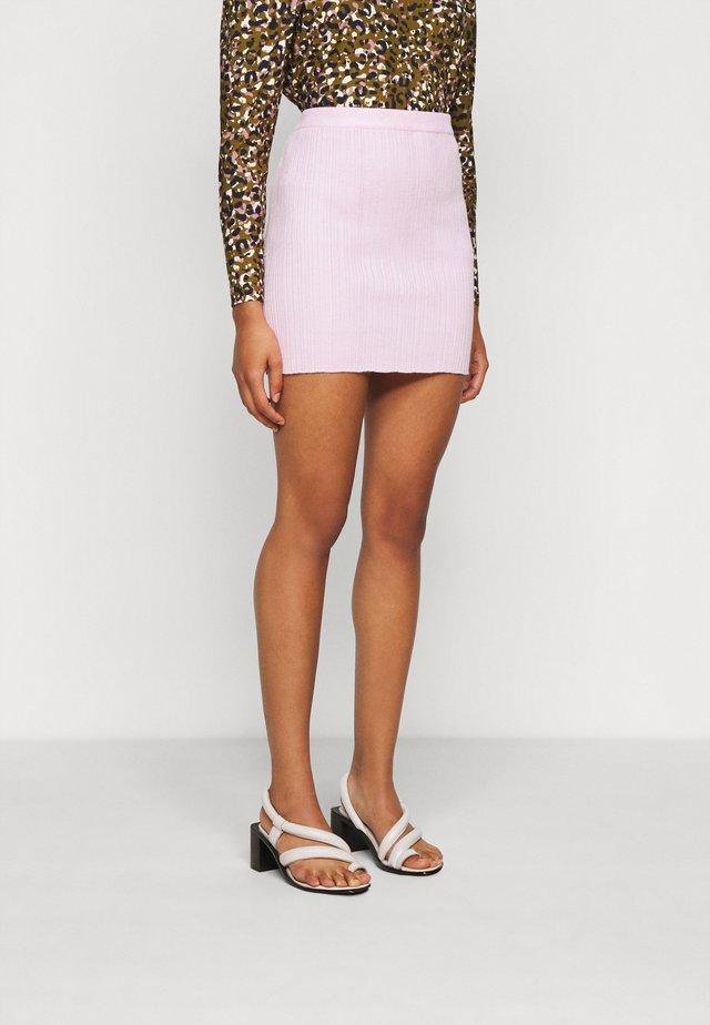 POPPER MINI SKIRT - Pencil skirt - pink