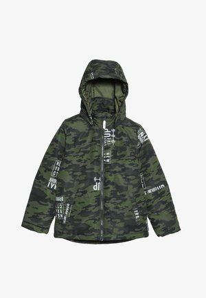 NKMMAX JACKET CAMO TEXT - Vinterjakke - winter moss