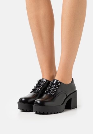 Lace-up heels - black