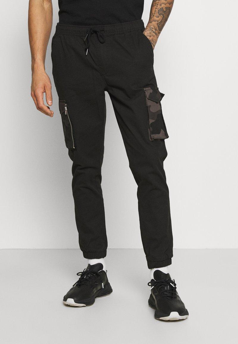 Brave Soul - Pantaloni cargo - black