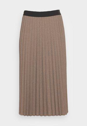 RAKINE - Áčková sukně - truffle