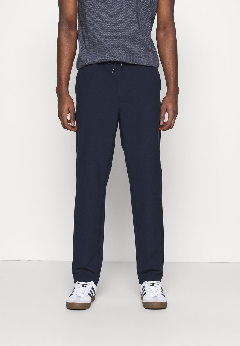 KnowledgeCotton Apparel - FIG CLUB PANT  - Tygbyxor - total eclipse
